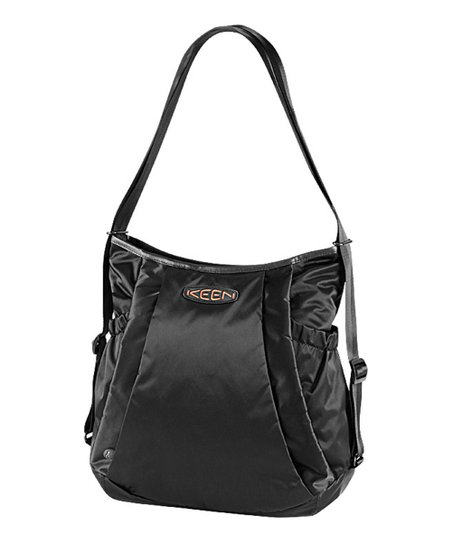 Black & Hot Coral Kanga Convertible Tote