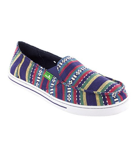 Blue Cabrio Poncho Slip-On Shoe - Women