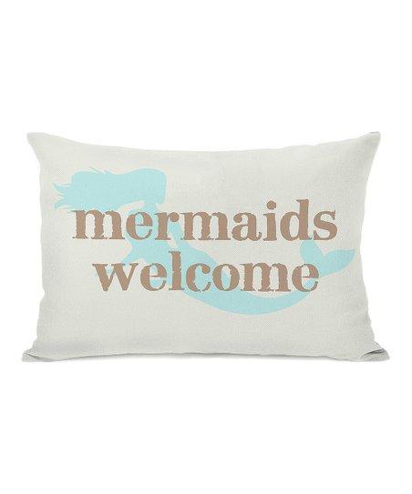 'Mermaids Welcome' Rectangular Pillow