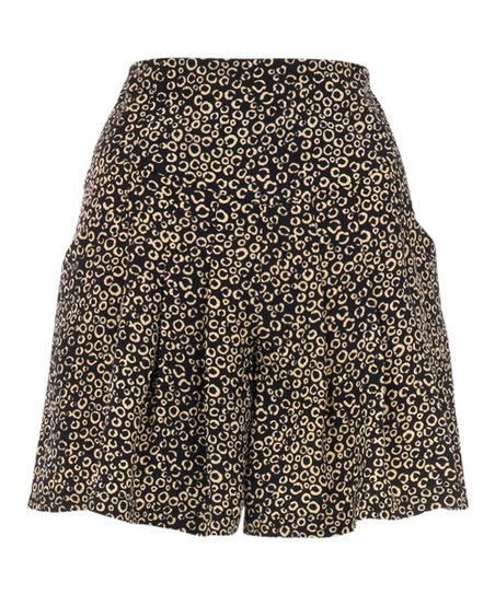 Black & Cream Circles Dina Shorts