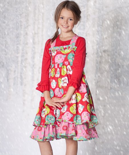 Red Jingle Jelly Holiday Dress & Top - Infant, Toddler & Girls