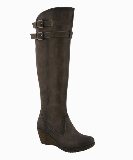 Brown Bella Wedge Boot
