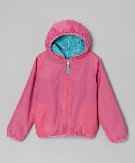 Turquoise Reversible Jacket - Girls