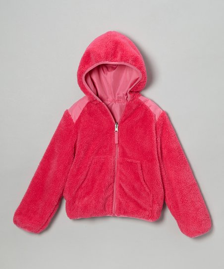 Fuchsia Reversible Jacket - Girls