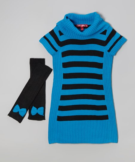 Blueberry Pie Sweater Dress & Arm Warmers - Toddler & Girls