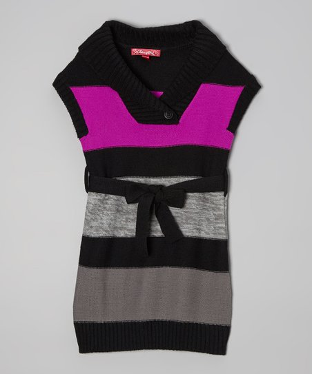 Very Berry Stripe Sweater Dress - Infant
