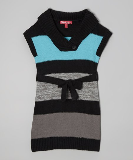 Bluebell Stripe Sweater Dress - Infant