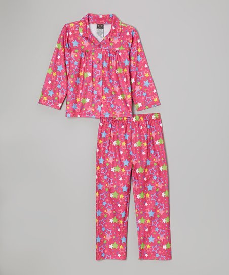 Pink Stars Pajama Set - Girls