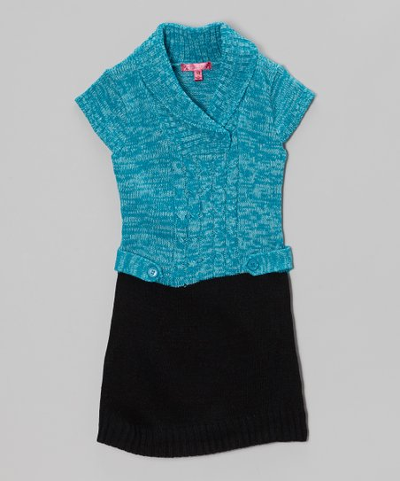 Mermaid Shawl Collar Dress - Toddler & Girls