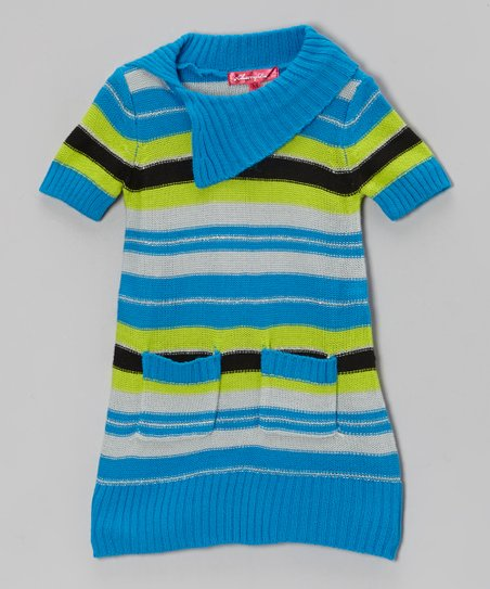 Blueberry Pie Stripe Sweater Dress - Toddler & Girls