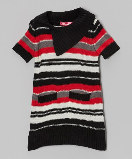 True Red Stripe Sweater Dress - Toddler & Girls