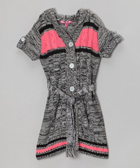 High Rise Marled Hooded Duster - Toddler & Girls