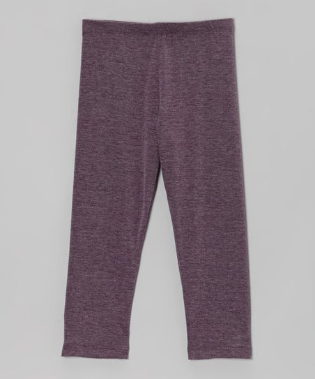 Heather Eggplant Leggings - Toddler & Girls