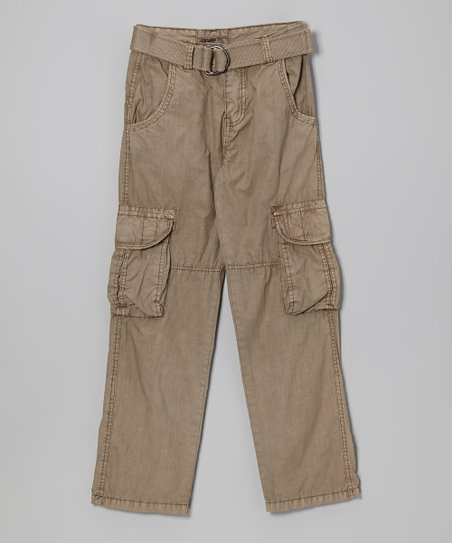 Brown Cargo Pants - Boys