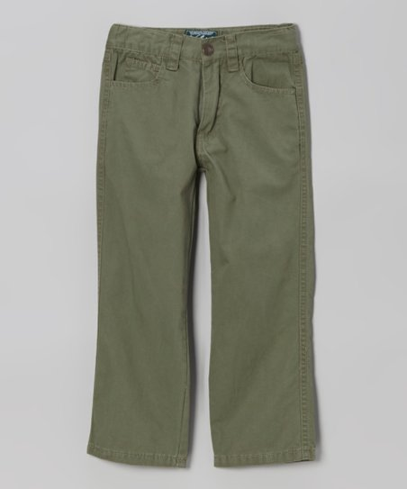 Hunter Green Twill Pants - Infant, Toddler & Boys