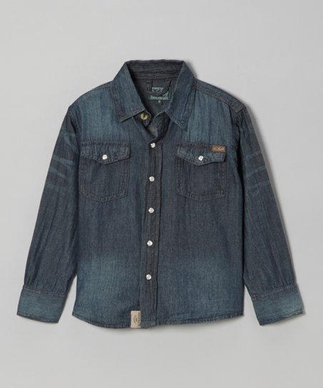 Blue Denim Button-Up - Infant, Toddler & Boys