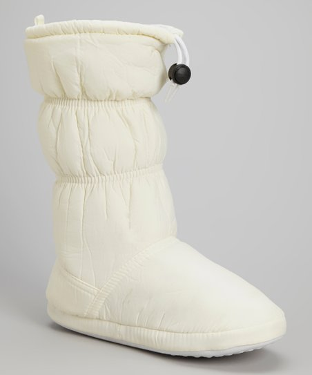 White Drawstring Boot