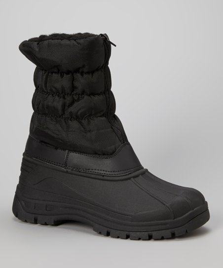 Black Zipper Boot