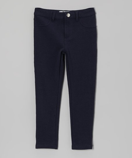 Navy Moleton Jeggings - Toddler & Girls