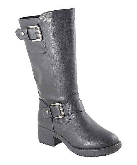 Black Buckle Boot