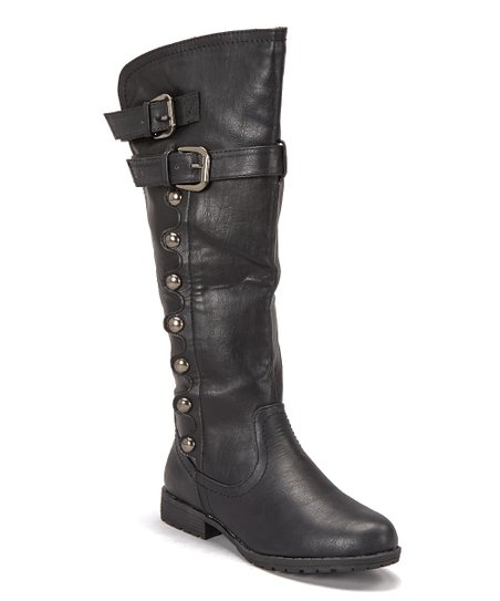 Black Studded Boot
