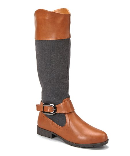 Light Brown Dual-Texture Boot