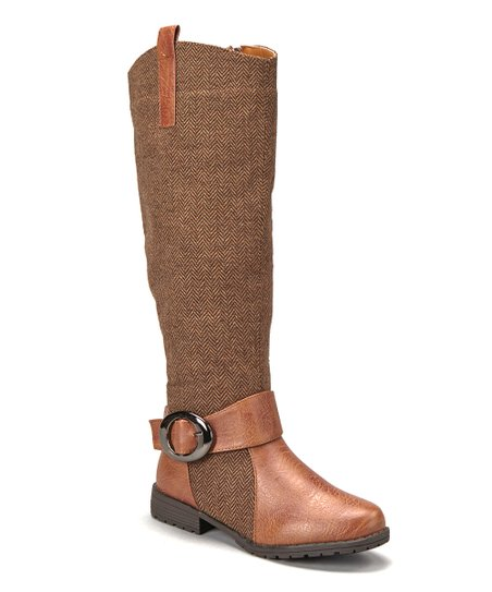 Light Brown Tweed Boot