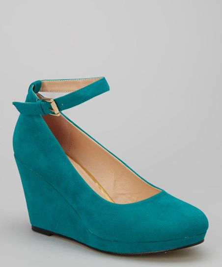Teal Daisy Wedge