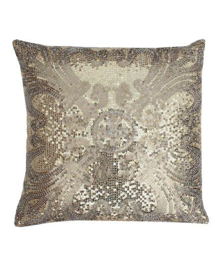 Gold Ludo Sequin Throw Pillow
