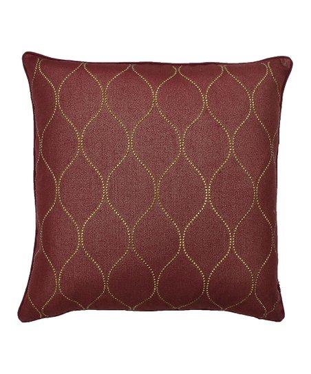 Rhumba Red Trellis Stud Pillow