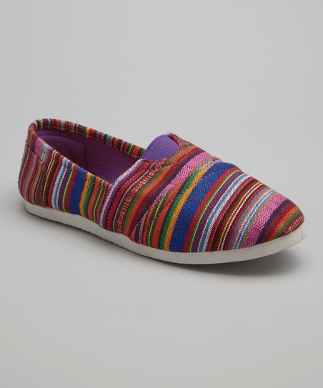 Purple Stripe Go Flats