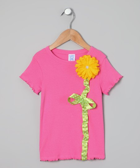 Snuggle Bug Kidz Pink Daisy Tee - Toddler & Girls