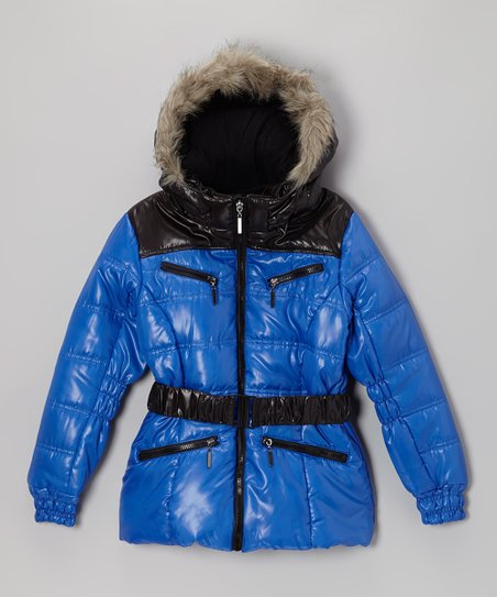 Royal Quilted Puffer Coat - Toddler & Girls