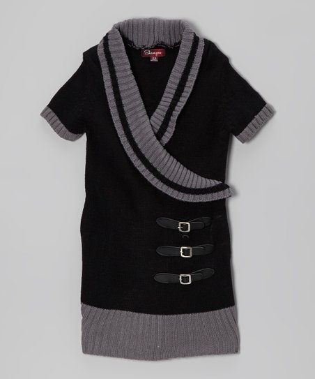 Blackthorn & Gray Shawl Collar Sweater Dress - Toddler