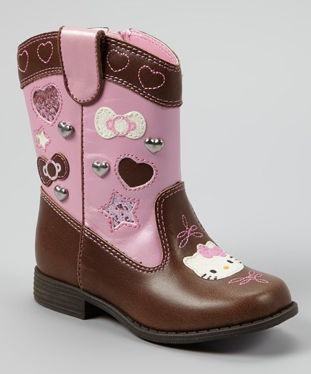 Brown & Pink Lil Kirsten Cowboy Boot