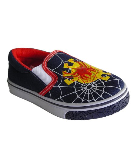 Navy Web Light-Up Slip-On Shoe
