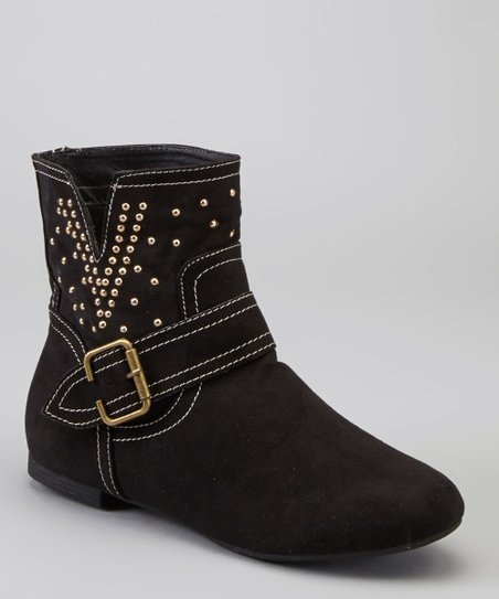 Black Metallic Studded Lark Boot
