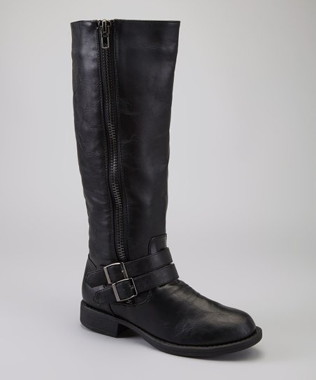 Black Zipper Alba Boot