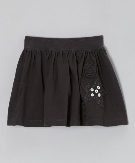 Gray Rosey Knit Skirt - Toddler & Girls