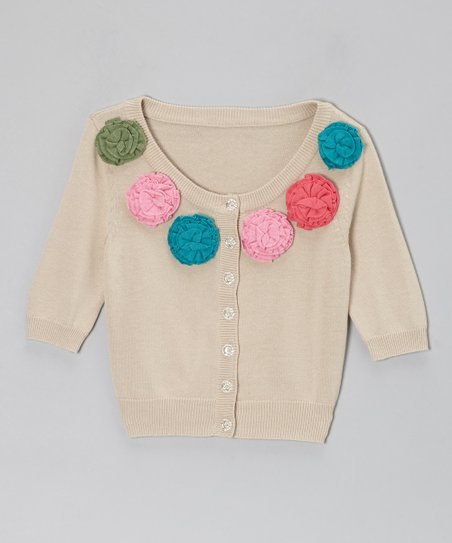 Natural Autumn Cardigan - Toddler & Girls