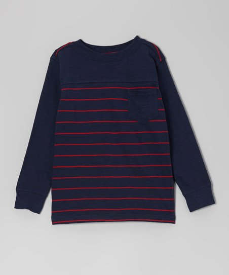 Twilight Stripe Pocket Long-Sleeve Tee - Toddler & Boys