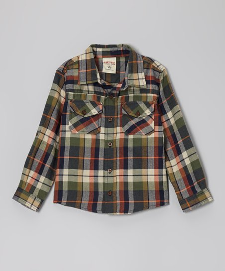 Twilight Plaid Button-Up - Boys