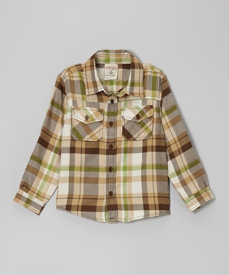 Paper Bag Plaid Button-Up - Boys