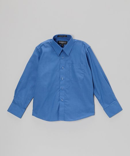 Royal Blue Button-Up