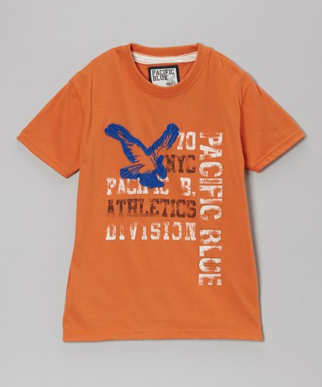 Orange 'Pacific Blue Athletic' Tee