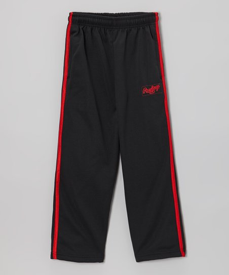 True Black & Red Heat Track Pants - Toddler & Kids