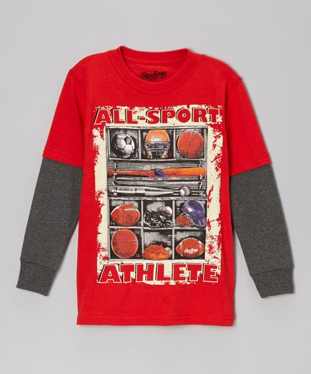 Red Heat 'All-Sport Athlete' Layered Tee - Toddler & Kids