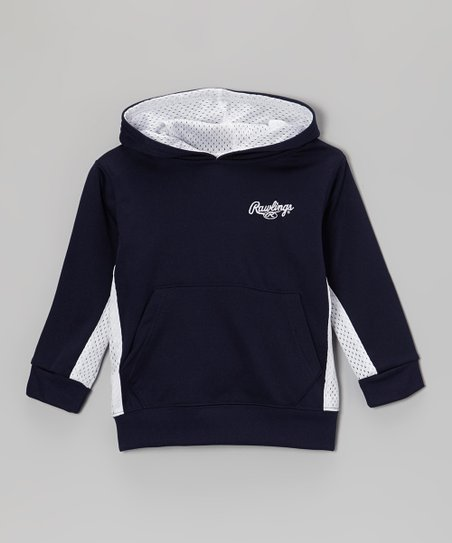 Twilight & Pure White Jersey-Stripe Hoodie - Toddler & Kids