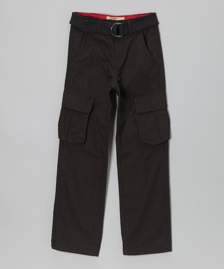 Black Ripstop Cargo Pants