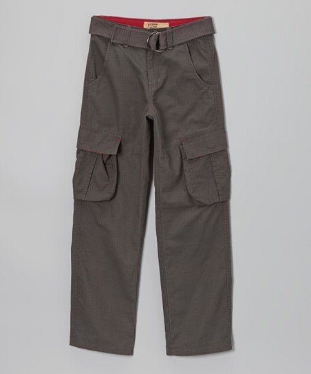 Brown Ripstop Cargo Pants - Boys